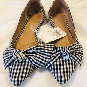 NWT Target A New Day Black & White Flats Size 7
